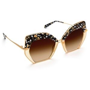 Krewe Octavia Sunglasses in Plume to Champagne